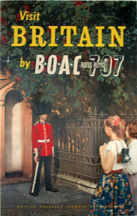 original vintage poster britain  boac  sale