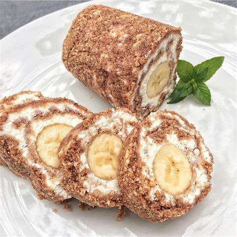 Biezpiena-banānu saldā rulete - INSTA receptes - tavs ...