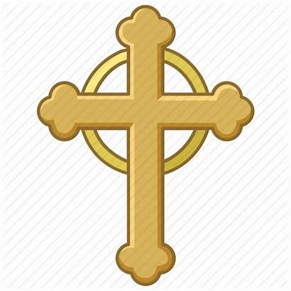 Crucifix Icon Catholic Cross Christian Budded Church