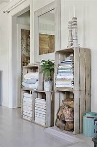 1001 idees et tutos pour fabriquer un meuble en cagette for Idee deco cuisine avec meuble en bois