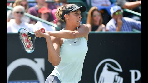 madison keys  volvo car open final shot   day