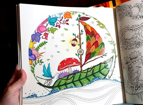 Enchanted Forest Coloring Book Finished