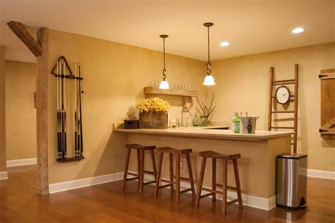 Simple Home Bar Design Ideas by 15 Farmhouse Basement Design
