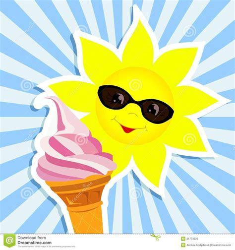 sun  pink ice cream royalty  stock image image