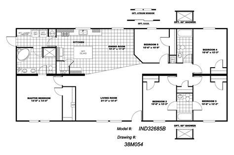 5 bedroom floor plans 1 5 bedroom mobile homes floor plans photos and