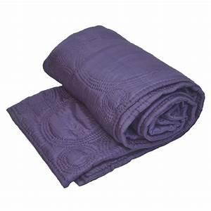 boutis couvre lit en soie mauve