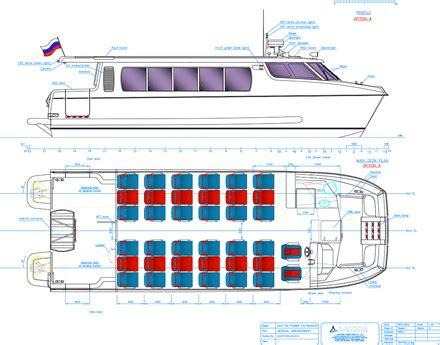 Passenger Catamaran Design by Developing A Small Passenger Catamaran Professional