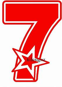 Items similar to 7th Birthday number 7 iron-on shirt decal ...