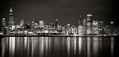 Skyline Chicago Canvas Night Animated Cityscape York