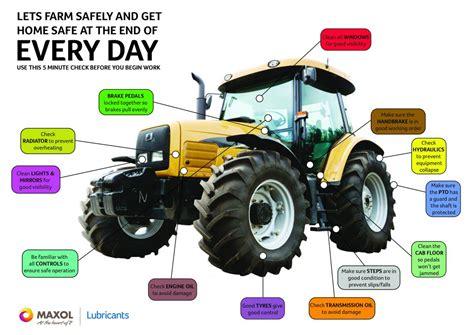 farm safety  checks  working  tractors   undertake agrilandie