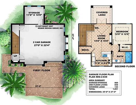 small  story house floor plan   car garage