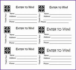 raffle entry forms printable clipart library With entry tickets template