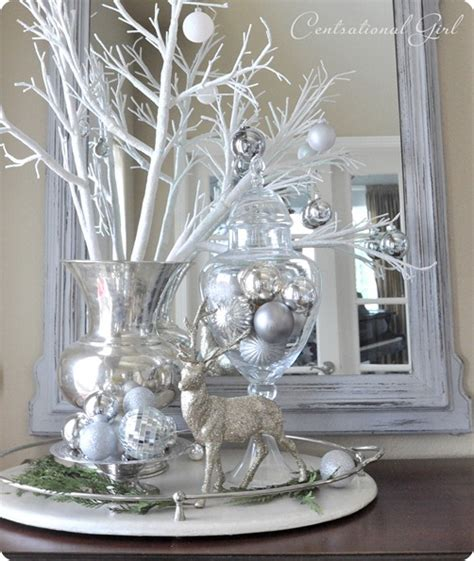 white silver christmas decorating theme christmas home tour 2011 centsational girl