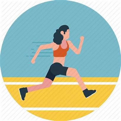 Icon Track Activity Athlete Running Outdoor Runner