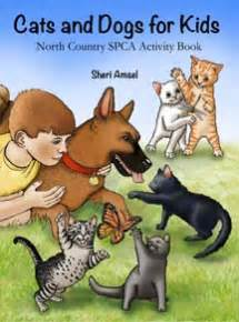 cats  dogs  kids activity book  north country spca