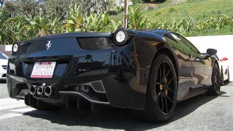 black ferrari  italia youtube