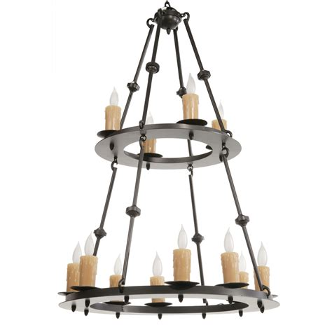 Two Tier Chandelier by 12 Light Two Tier Chandelier W Candle Drip Cover