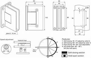 Wall Mounted Soft Closing Glass Door Hinges (Pack of 2 ...