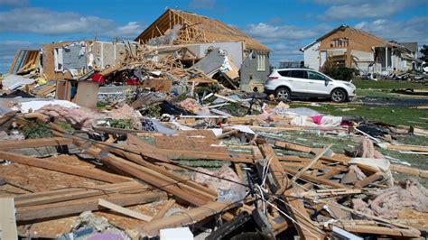 twin tornadoes damage dozens  homes wipe  power