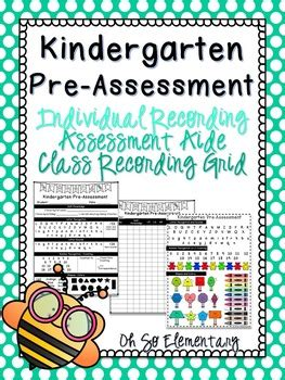 kindergarten pre assessment    elementary tpt