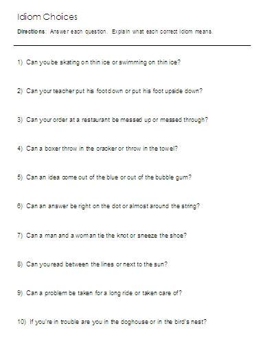 time worksheet   esl time idioms worksheet