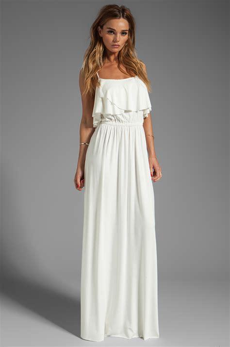 white dresses pally cloris maxi dress in white in white lyst
