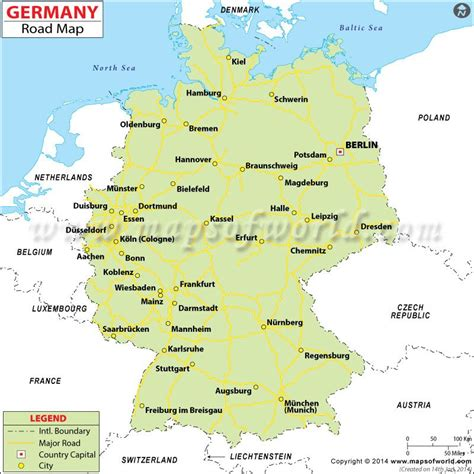 germany road map travel map highway map city maps