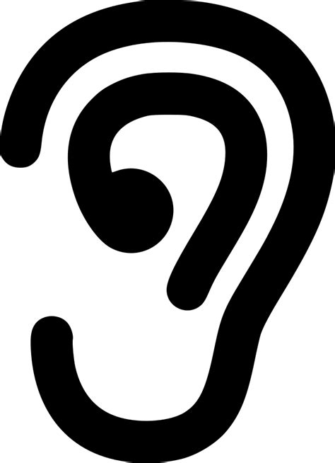 Ear Svg Png Icon Free Download (#491473) - OnlineWebFonts.COM