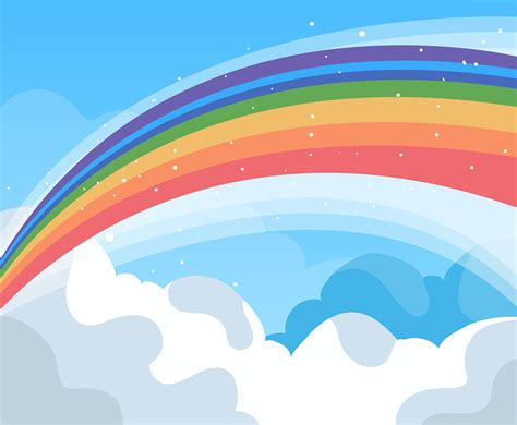 rainbow background vector   vectors clipart