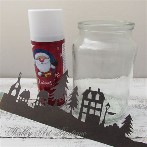 jar christmas candle holder shabby art boutique how to make a christmas township candle jar
