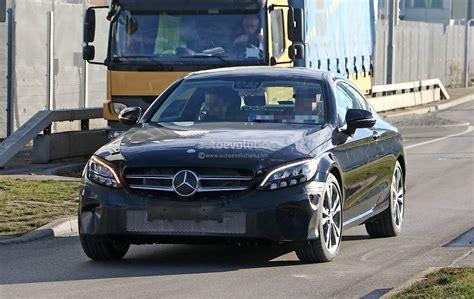 2019 Mercedesbenz Cclass Coupe Facelift Shows Allnew