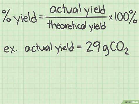 Come Calcolare La Resa Percentuale In Chimica Wikihow