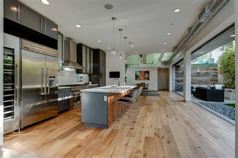 galley kitchen open to living room galley open concept kitchen ideas kitchen contemporary 8297