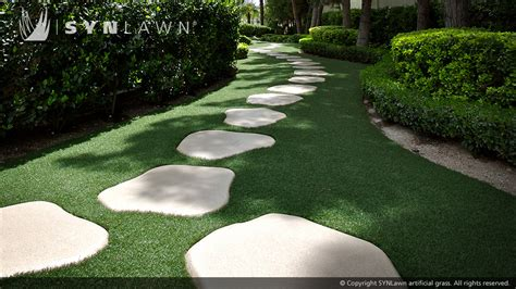 landscaping with artificial grass synlawn lawn and landscape installations gallery