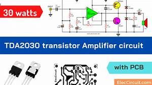 Tda2030 Transistor Amp Circuit With Pcb