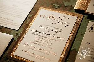 erin rich39s rustic glam rose gold foil and glitter With rose gold foil wedding invitations diy