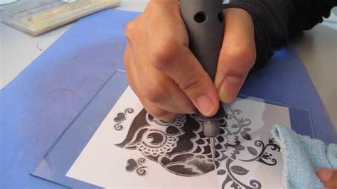 dremel  etching glass beginner youtube