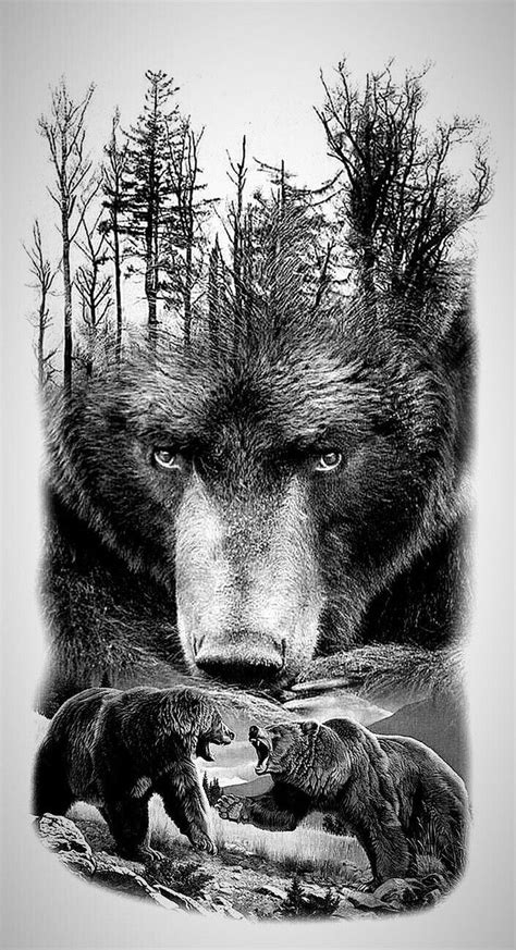 Beautiful Grizzly Bear Art!   Grizzly bear tattoos, Bear