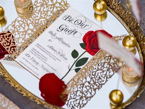 Enchanting Beauty and the Beast wedding shoot will