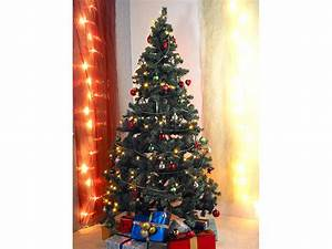 Geschmückte Weihnachtsbäume Christbaum Dekorieren : infactory k nstlicher weihnachtsbaum 180 cm 465 pvc spitzen refurbished ~ Markanthonyermac.com Haus und Dekorationen