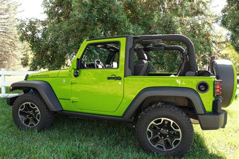 hyper green jeep boomerang releases color matched colorpro mirror caps for