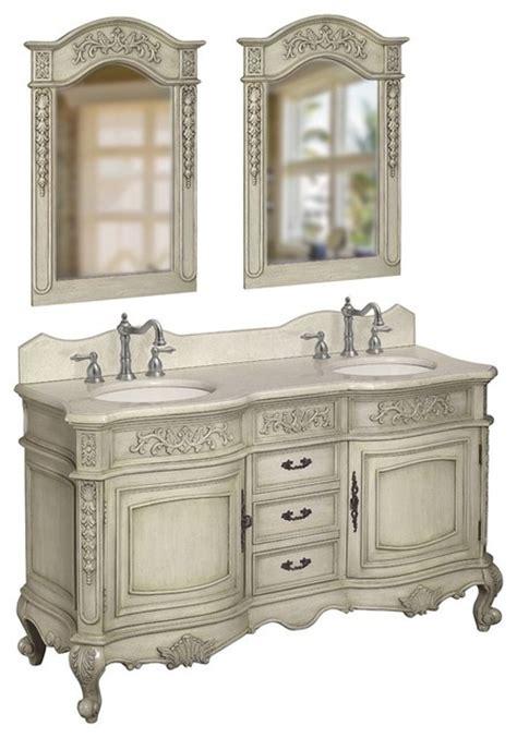 belle foret 80044rn double basin vanity in antique