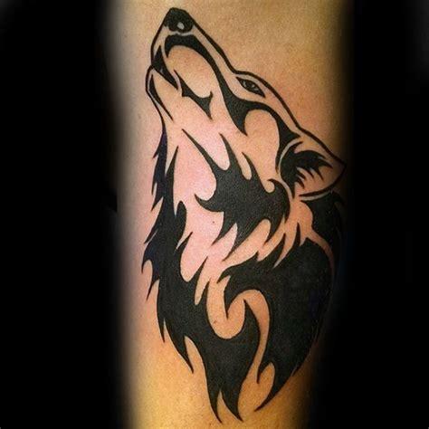 tribal wolf tattoo designs  men canine ink ideas