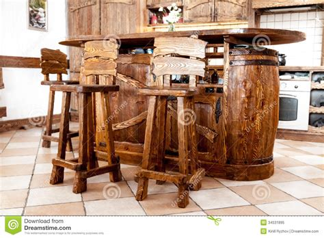 high wooden bar chairs standing  bar desk royalty  stock photo image
