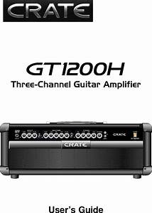Crate Amplifiers Gt1200h Users Manual