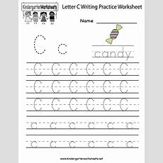 Kindergarten Letter C Writing Practice Worksheet Printable  C Is Forletter Of The Week