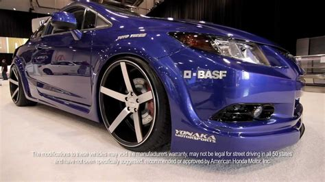 fox marketing 2012 honda civic si at sema on 20 quot vossen