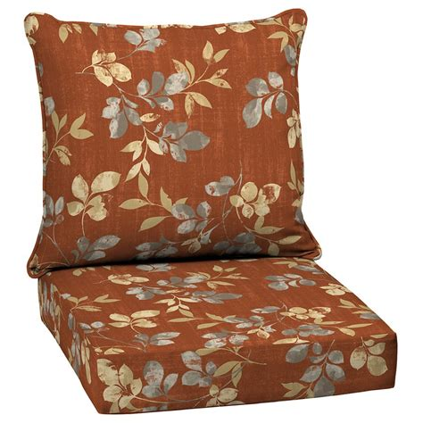 patio chair cushions garden treasures terrace leaves 2 seating patio