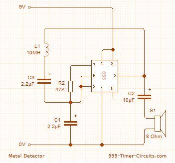 metal detector circuit metal detector diy electronics
