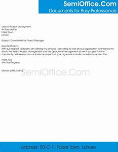 cover letter for project manager and sample job application With cover letter for a project manager position